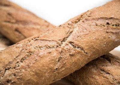 Barras de pan integral