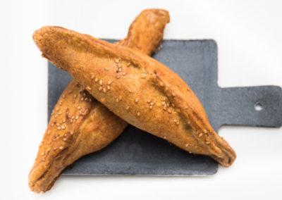 Empanadillas de pollo y pisto